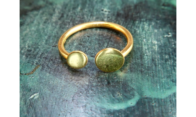 Torc Ring - gold plated sterling silver