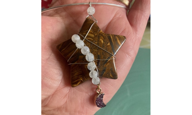 Cosmic Tiger - Tiger's Eye Star with Moonstone